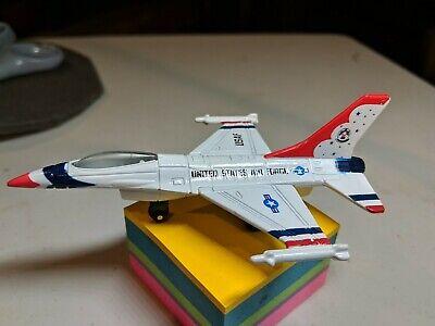 Matchbox United States Air Force USAF SB 24 2000 F16A jet airplane