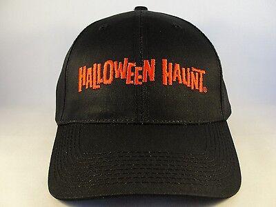Halloween Haunt Knotts Veteran Vintage Adjustable Strap Hat Cap Size M/L Black](Grim Halloween Haunt)