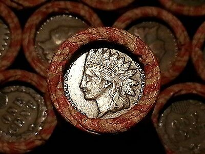One Lincoln Wheat Cent Penny Roll  Indian Head Both Ends   1909 1958       Fp28