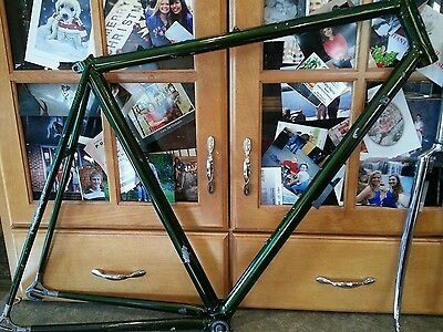 VINTAGE Race bike Frame CHESINI Criterium Made in italy columbus Steel 55cm