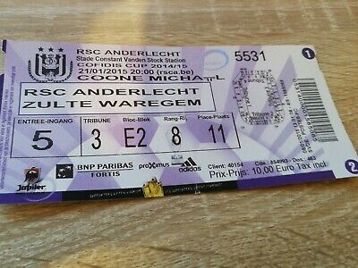 Ticket Anderlecht Zulte Waregem Coupe de Belgique 2015
