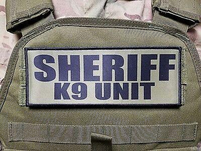 "3x8/"" SHERIFF K9 UNIT Multicam Hook Back Morale RAID Patch SWAT LEO Badge"