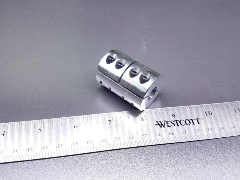 14 x 15mm Rigid Clamp Shaft Coupler Double Length CNC Mill Motor Zero Backlash