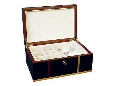 Ercolano Olimpia Large Handmade Italian Luxury Black Jewelry Box with Tray