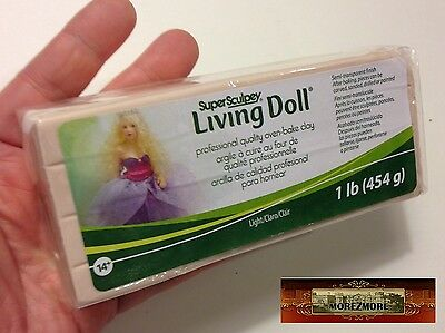 M00383 MOREZMORE Living Doll LIGHT 1 lb Polymer Clay Super Sculpey P20