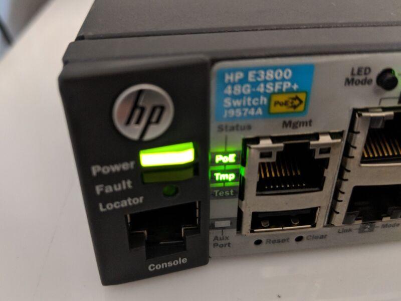 Hp Procure J9574a E3800-48g-poe+-4sfp+ Layer 3 Switch J9574-61001