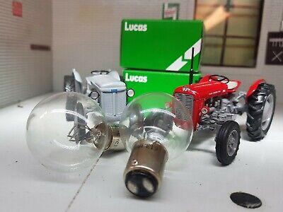 Genuine Lucas Headlight Headlamp Bulbs X2 Grey Massey Ferguson Mf35 30 35 65 135