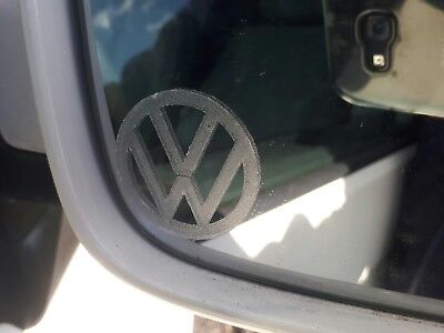 X2 VW etched glass wing mirror stickers decals T5 T4 golf beetle Passat Xmas
