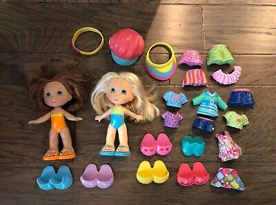 23 piece set - FIsher Price Snap N Style Dolls Lot Accessories Fashion Toys