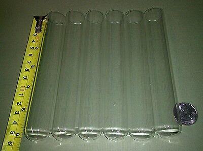 6 Big New Glass Test Tubes Tube Borosilicate Pyrex Equiv Large 25 X 150