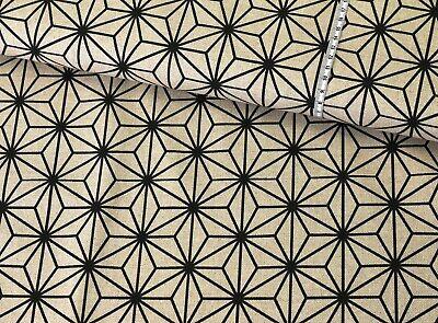 Geometrische Drucken ((EUR 10,98/m) CANVAS DRUCK Sternmuster abstrakt geometrisch SCHWARZ auf NATUR)