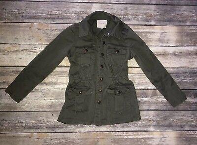 Copper Key Girls Army Green Utility Jacket Size S (8) Pockets