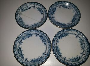 JHW & Sons Hanley England Maltese Semiporcelain Butter Dishes