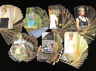 LADY DIANA Royalty Pavarotti Elton John Pope NIGER 1997 MNH Minisheets 280ITEMS