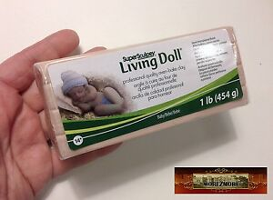 M00093a MOREZMORE 1 lb Living Doll Polymer Oven-Bake Clay Super Sculpey T20A