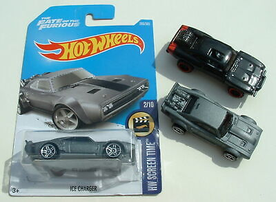 3 Hot Wheels modified DODGE CHARGER Fate of the Furious 7 Ice '70 2017 NEW used