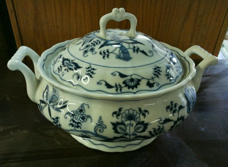 Blue Danube Large Round Covered Vegetable Serving Bowl New Mark Japan