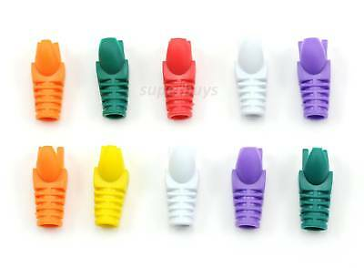Ethernet Cable End Plug Head Cover Cap Boot Protector Tip RJ45 Cat5 Cat5e COLOUR