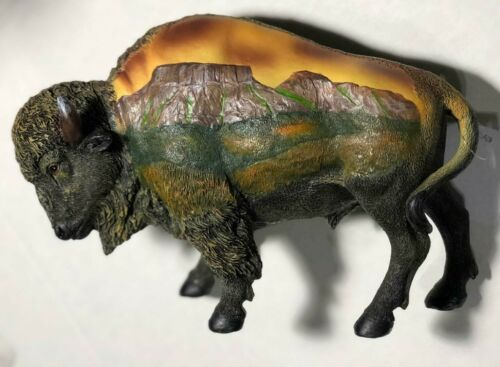 DECORATIVE BUFFALO STATUE - NEW
