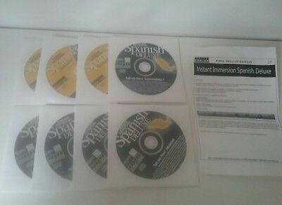 Spanish 8 Disc Set Pc Dvd Cd Instant Immersion Deluxe Learn A New Language
