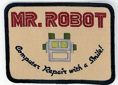 Mr Robot FSociety Patch (4 Inch) Easy DIY Iron / Sew On Badge Costume Applique