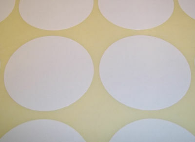 100 White 20mm 3/4 Inch Colour Code Dots Round Stickers Sticky ID Labels