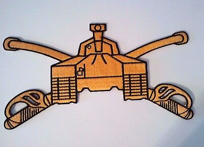 U.S. Army Armor Branch of Service A-1 Abrams Patch Gold on Black  (Army Branch)