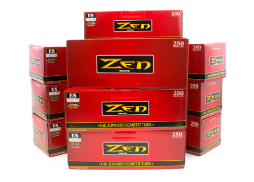 Zen Premade Cigarette Tubes Full Flavored King Size 10 Boxes (2500ct)