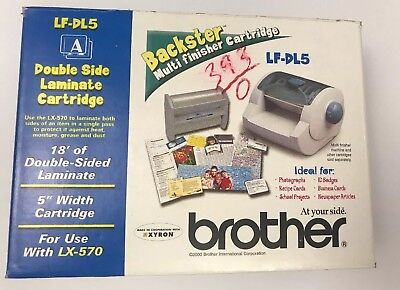 Genuine Brother LF-DL5 Double Side Laminate Cartridge NEW IN BOX