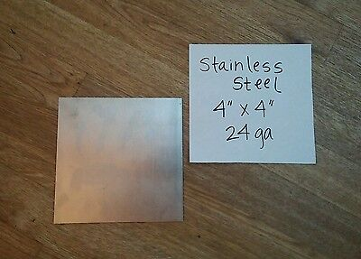 Stainless Steel 316 4 X 4 24 Gage 4 Pieces Plate Flat Metal Sheet Welding