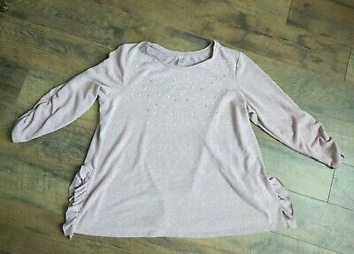 Terra & Sky Women's Plus Size 2X Sweater Top Long Sleeve Super Soft Pink Gray