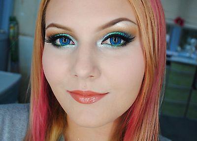 Blue Natural Freshlook Fresh Contact Lenses Color contact lens One Pair  (Blue Color Contact Lens)