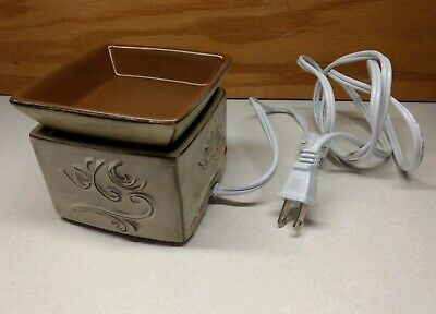 Scentsy Element Warmer Sandstone Retired Requires No Light Bulb Element Flat Light