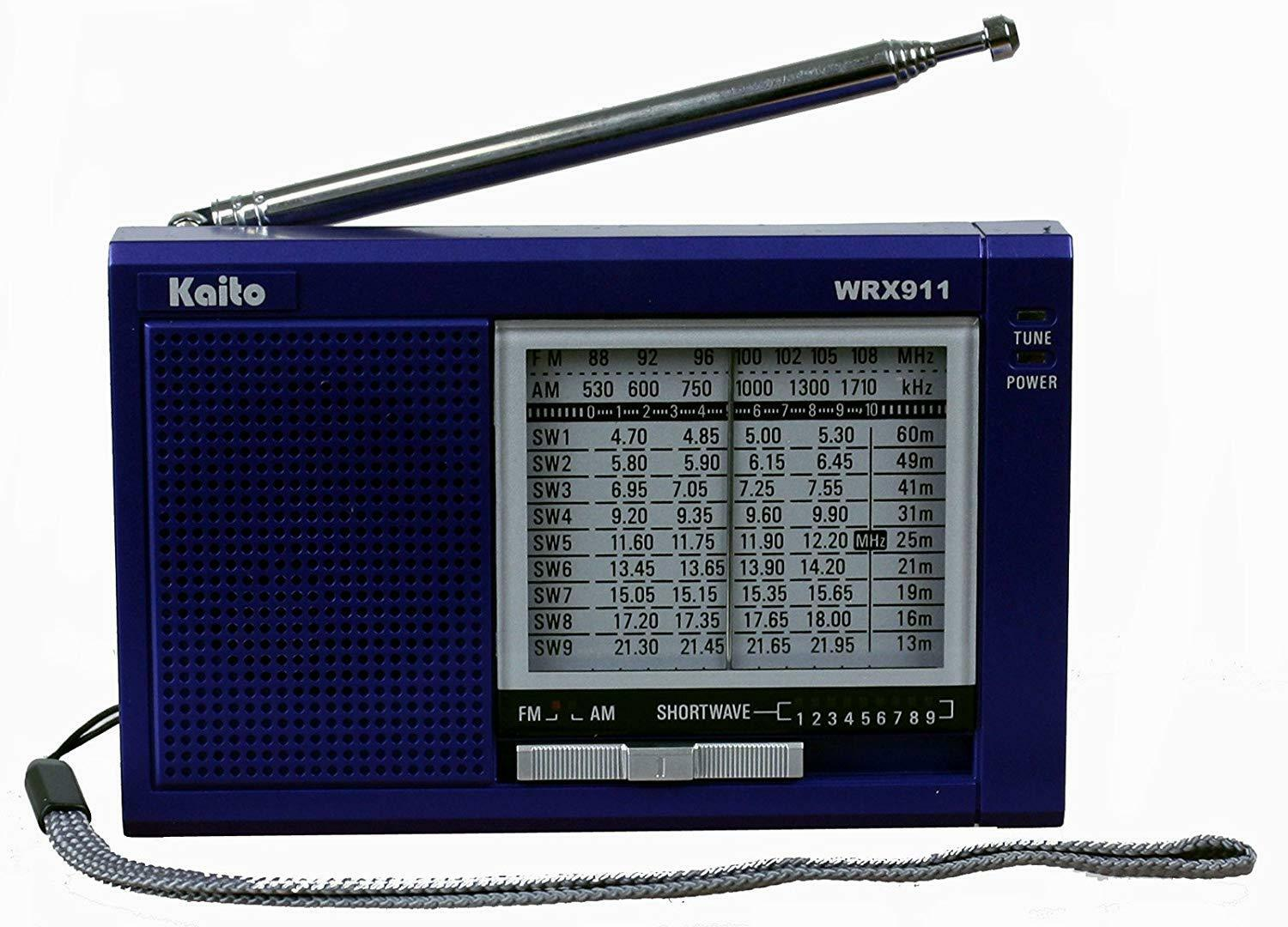 Kaito WRX-911 Portable AM/FM Shortwave Radio Receiver Blue