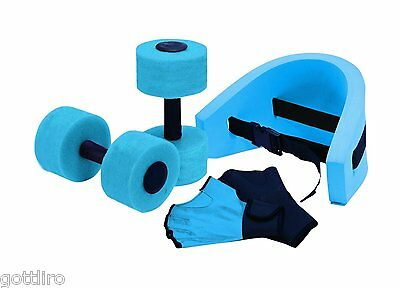 Aqua Fitness Exercise Set - 6 Piece Water Exercise Aerobic Belt, Barbells