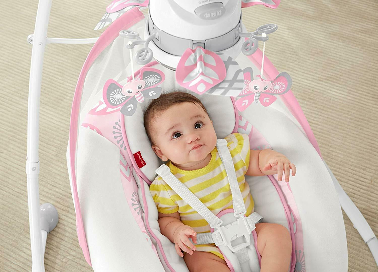 Fisher-Price Deluxe Cradle 'n Swing- Surreal Serenity Baby 3