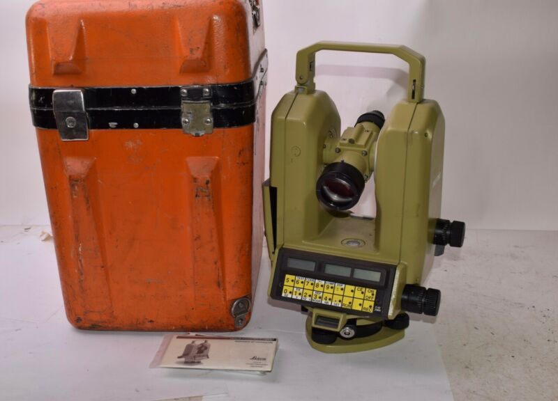 Leica, Wild Heerbrugg Part: T2002, Theomat Electronic Precision Theodolite w/Cas