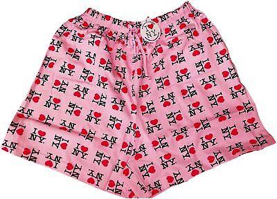 Pink I Love NY Boxer Shorts Adult Unisex New York City Gift Souvenir Pajama NWT](I Love Ny Pajamas)