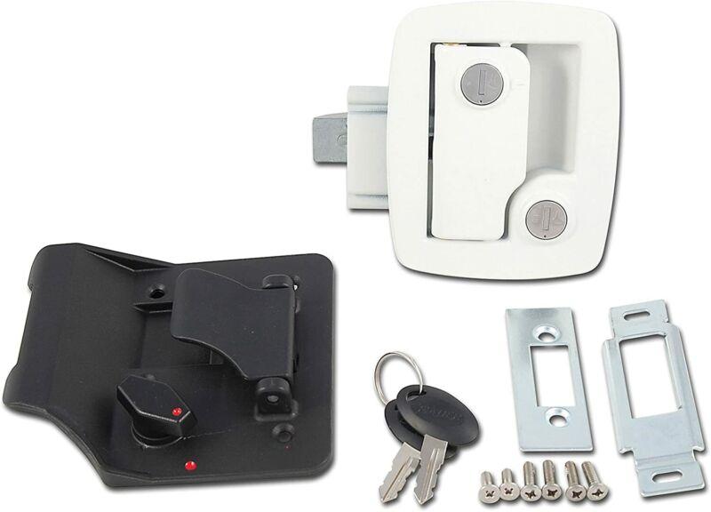 Ap Products Bauer Rv Trailer Entry Door Lock Unique Key Jacket White 013-534 New