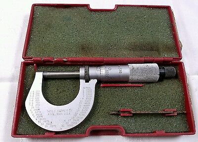 Starrett Micrometer Caliper With Original Box Vintage