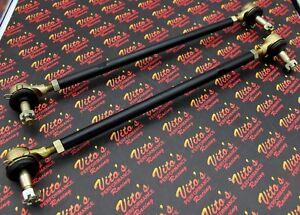 2 x NEW Vito's Yamaha Banshee BLACK tie rods + ball joints STOCK LENGTH kit
