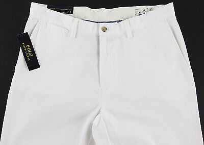 Men's POLO RALPH LAUREN White Chino Twill Cotton Pants 36x32 NWT NEW Classic Fit
