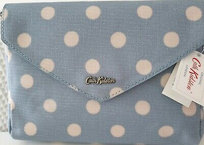 CATH KIDSTON ENVELOPE CLUTCH BUTTON SPOT BLUE BAG NEW