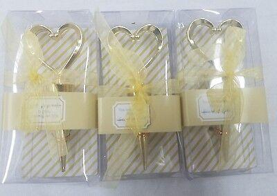 Heart Bottle Stopper - Fashioncraft Gold Heart Design Metal Bottle Stopper Wine Cork (Pack of 3)