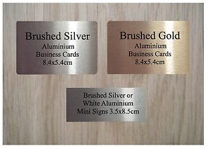 MINI-CUSTOM-MADE-SIGN-ALUMINIUM-METAL-PLAQUE-NAME-LABEL-in-White-Silver-or-Gold