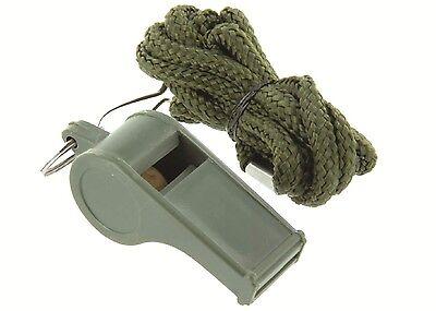 Arbitre sifflet-militaire survie sécurité sifflet-clip de fixation et lanière