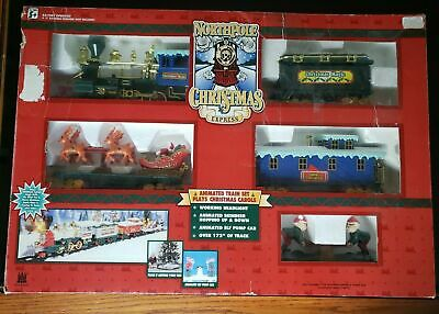 North Pole Christmas Express Animated Musical Train Set with Box 1996 - Complete