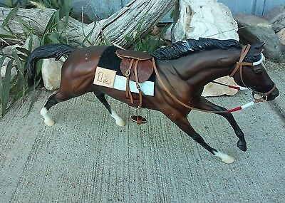 Breyer horse custom Nyquist Secretariat race saddle set Kentucky Derby