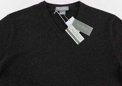 Men's DANIEL CREMIEUX Dark Heather Brown V-Neck CASHMERE Sweater XXL 2XL NWT NEW