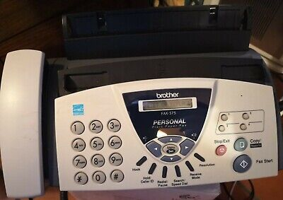 Brother Fax-575 Personal Plain Paper Fax Machine Phone And Copier Office
